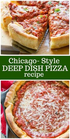 Chicago Style Deep Dish Pizza - The Best German Recipes Italian Dishes, Italian Recipes, Pizza Recipes, Cooking Recipes, Pillsbury Pizza Crust Recipes, Skillet Recipes, Cooking Gadgets, Kitchen Recipes, Recipes Dinner