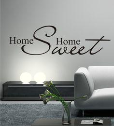 Wandtattoo Wohnzimmer, Wandsticker Home, Wandaufkleber, Home Sweet Home