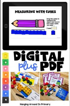 These snap cube activities pack is the perfect resource for teaching in 2020.  Do you need DIGITAL?  PRINTABLE? You can have both! Keep your first and second graders engaged with print and digital morning work or math centers. These PDF activities or Google Slides provide review of math concepts using linking cubes or snap cubes. Students work on area, measurement, patterning, spatial awareness #morningtubs #mathcenters #snapcubes #linkingcubes #mathmanipulatives Primary Maths, Primary Classroom, Teaching Resources, Teaching Ideas, Area Measurement, Number Sense Activities, Math Manipulatives, Math Numbers, Math Concepts
