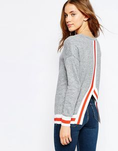 Image 1 ofASOS Jumper With Contrast Tipping Detail