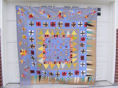 Stunning liberated medallion quilt