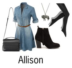 Allison by twfs on Polyvore featuring Mode, LE3NO, Simply Vera, Nly Shoes and AllSaints