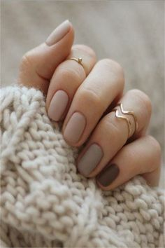33 Elegant Nail Designs for Nude Nails For YouOwing to the quick dynamic trend of nail art, you may notice it laborious to stay up with what's new for the season. but you ought to feel dangerous as a result of there are more of nail art styles that m Nude Nails, Matte Nails, Nail Manicure, Manicures, My Nails, Acrylic Nails, Soft Nails, Pointy Nails, Gradient Nails