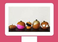 Gear up for fall with desktop pumpkins.