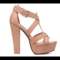 Leila Stone heels - peaches High heels never in coral/light peach color. (Additional photos upon request) Leila Stone Shoes Heels