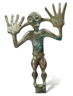 Bronze votive statuette of a naked man,  Caucasus, 8th-6th century BC