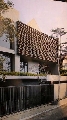 Modern House Facades, Modern Architecture House, Concept Architecture, Facade Architecture, Modern House Design, Facade Design, Exterior Design, Tropical Architecture, Facade House
