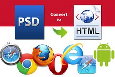 You have PSD ready and find designer to convert it into HTML. You are at perfect GIG.   Yes, I will convert your PSD to complete responsive HTML. To make your PSD to HTML I will use Bootstrap, CSS3, HTML5 & JQuery.   Happy to help you. :)