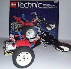 Lego Technic Model Motor Cycle 8857 Street Chopper 95% complete with box vintage