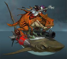 *** Show media ***riding a dinosaur riding a shark with lazorz while playing some killer riffs!