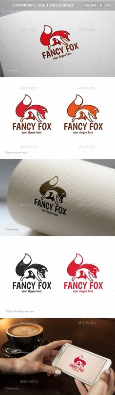Fancy Fox Logo Template by ukido The logo is simple and graphic. Design is minimal