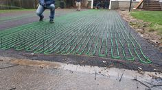 Possibly under a green driveway warmzone heated driveway with radiant heated driveway system install in rivervale nj these cables are buried in asphalt and solutioingenieria Choice Image
