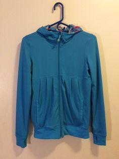 Ivivva by Lululemon Girls Sz 14 Reversible Action Jacket Kayk/ETKB Blue Pink #Ivivva