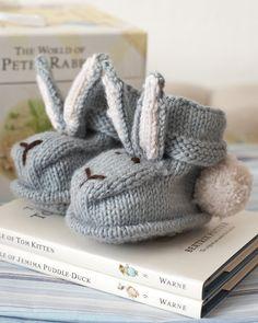 Bunny Bootees | Knitting Fever Yarns & Euro Yarns