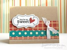 Kraft Cards....cute for your scraps