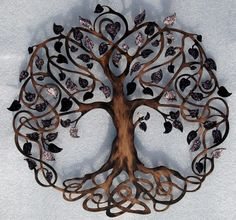 Tree of Life Infinity Tree Wall Decor by HumdingerDesignsEtsy, $150.00