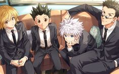 Anime Hunter x Hunter Kurapika (Hunter × Hunter) Leorio Paradinight Killua Zoldyck Gon Freecss Wallpaper Hisoka, Killua, Manga Anime, Gon Anime, Manga Art, Anime Guys, Anime Art, Anime Wolf, Otaku Anime