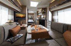 Fendt-Caravan | Wohnwagen von Fendt | Tendenza Wonen Trailers, Fendt Caravan, Camper, Conference Room, Table, Furniture, Home Decor, Camper Van, Travel Trailers