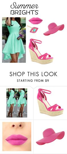 """""""Turquoise and pink!!"""" by kokoj ❤ liked on Polyvore featuring BCBGeneration, Accessorize, Sydney Evan and summerbrights"""