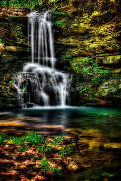 Scott Ward - This is an artistic HDR photograph of a beautiful little waterfall in Arkansas called Magnolia Falls. Oh The Places You'll Go, Places To Visit, Arkansas Waterfalls, Hdr Photography, Beautiful Waterfalls, Famous Places, Outdoor Fun, West Virginia, Pretty Pictures