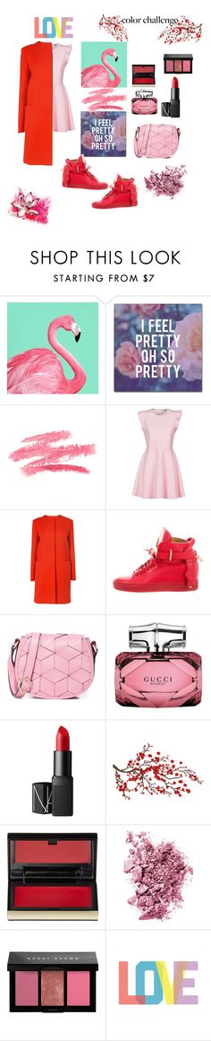 """""""redpink"""" by kenykeal ❤ liked on Polyvore featuring interior, interiors, interior design, home, home decor, interior decorating, Trademark Fine Art, MSGM, BUSCEMI and Welden"""