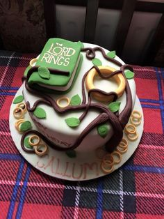 For all things Tolkien, Lord of The Rings, and The Hobbit . Themed Wedding Cakes, Themed Cakes, Hobbit Cake, Mini Cake Pans, Ring Cake, Cupcakes, Cool Birthday Cakes, Cake Decorating Techniques, Lord