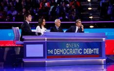 ABC News Democratic Debate Broadcast Set Design Gallery George Stephanopoulos, Tv Set Design, Abc News, Over The Years, Hold On, University, Gallery, Roof Rack, Naruto Sad