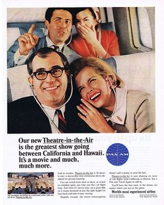 1965 Ad - PAN AM - 'Theatre-in-the-Air', $12 (rubylane.com)