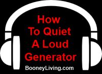 how to quiet a loud generator