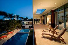 Otko Villa on a Private Island in Miami Beach, Florida Miami Beach, Screened In Patio, Backyard Patio, Villa, Pool Picture, Creative Architecture, Modern Pools, Small Pools, Waterfront Homes