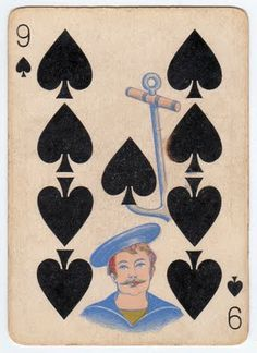 Free Vintage Clip Art - Antique Playing Card - The Graphics Fairy