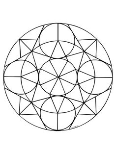 Abstracte Vormen Kleurplaat Einfache Mandala Vorlage Blume Lente Mandala