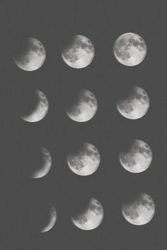 Moon Wall Art moon phases art print | moon phases, moon art and modern wall art