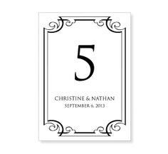1000 images about wedding table tents on pinterest for Table numbers template for weddings