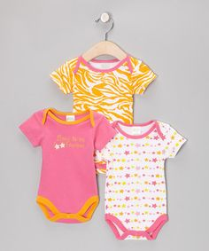 Take a look at this Pink 'Born to Be Famous' Bodysuit Set by Baby Gear on #zulily today!