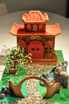 Chinese Garden Gingerbread house