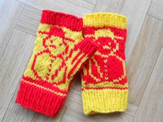 Snowman mitts knitting pattern  Snow by CuteCreationsByLea on Etsy