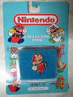 Nintendo Collector Pins Series A #6 Mario Profile New in Package 1989 No. 6 NIP