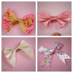 DIY hair bows with these mini assorted bows - just add them to an alligator clip, headband, or barrette; so cute!