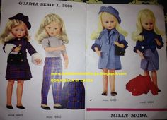 Catalogo Milly Z&Z 06 Doll Toys, Dolls, Vintage Barbie, Fur Coat, Family Guy, Jackets, Jenni, Clothes, Fashion