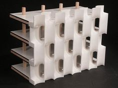 Fig. 8: Seamless façade construction was validated by gluing multiple 3D-printed RELAXED units into a subscale mockup of a curtainwall. Source: Cal Poly SLO