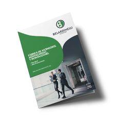 Diseño de catálogo de productos para Belardinelli ascensores