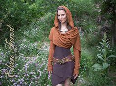 Cropped Pullover Wrap  Jacke Hoodie werfen von ElvenForest auf Etsy