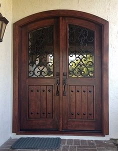 Pay a visit to our world-wide-web site for more all about this delightful photo Double Front Entry Doors, Front Door Entryway, Iron Front Door, Wood Front Doors, House Front Door, House Doors, Exterior Doors With Sidelights, Double Doors Exterior, Wooden Front Door Design