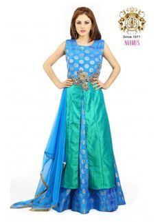 146d03ca64753b Neerus Seagreen color Suit. Indian Ethnic WearHalf SareeSilk ...