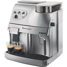 Philips Saeco RI9737/20 Vienna Plus Automatic Espresso Machine (Silver) - CLICK TO BUY - You can now make espressos, cappuccinos, lattes, and tea all from one machine that grinds, tamps and brews gourmet coffee.