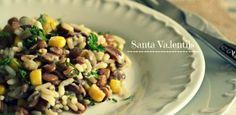 Φακόρυζο με Ταχίνι Black Eyed Peas, Starters, Grains, Rice, Vegetables, Cooking, Recipes, Food, Greek