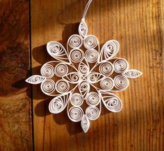 #folksy Eco-friendly white quilled snowflake £3.00