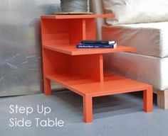 how to build this step up side table with plans on Anna White's blog. Perfect for my kitty!