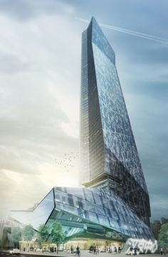 Construction is underway on a striking new tower by Morphosis Architectsin Shenzhen.